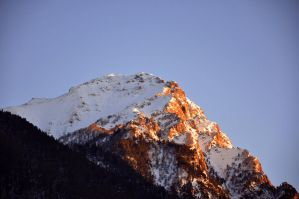 Sunray touches Mountain by DearEva