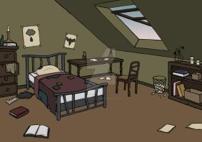 Bedroom Background by Its-a-Carly