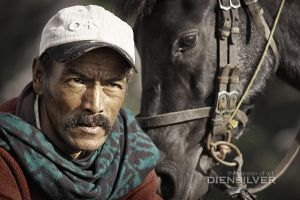 The man with the horse by diensilver