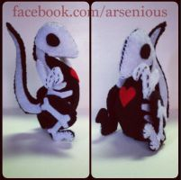 Skeleraptor - Artist Plush [SOLD] by Arsenious