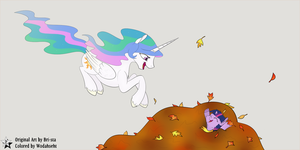 Leaves and Laughs by Wodahseht