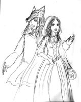 Red Riding Hood Jane and Wolf Darby by Captain-Savvy