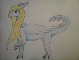 an old dragoness drawn as a ferral by kimonoindea