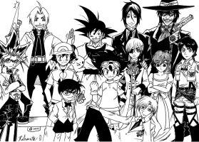 My Favourite Anime Main Characters by Rohanite
