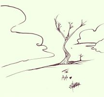 TREES AND CLOUDS by quick2004