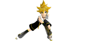 :MMD: Append Len Kagamine by Roxiiipoo