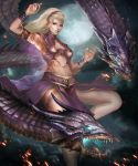Violet Summoned Dragon by Ron-faure