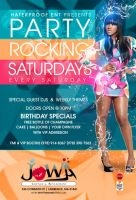 party rocking saturdays flyer by DeityDesignz