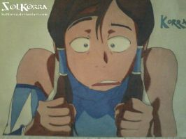 Korra Traditional Draw by SolKorra