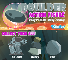 Boulder Action FIgure by PixelKitties