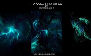 TURQUESA FRACTALS by starscoldnight by StarsColdNight