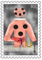Spring Racing Stamp - Black Caviar Equipment Stamp by ily4ever95