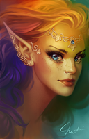 Rainbow elf by MagdaPROski