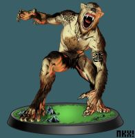 Maori Werewolf color by nockiman
