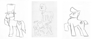 Professor Neighton and the Puzzled Ponies by Xellphy