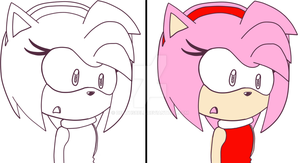 sai pratice lineart and coloring amy XD by deathsbell