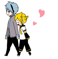 Mikuo and len by replica-luna