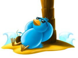 Relaxing Twitter Icon by grebenru
