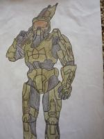 Master Chief by LuxiotheEchidna
