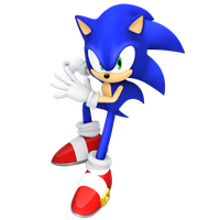Sonic Jumping Render by JaysonJean