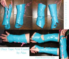 Duct Tape Arm Guard by psychosupafly