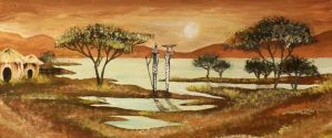 African Scenery by Mauni