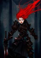 Flame Haired Black Knight 2 by KillerPinkPenguin