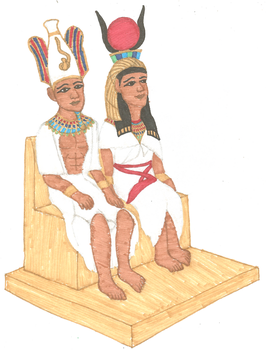 Osiris and Isis by kaleidescopiclee