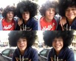 Harry and Louis in Afros by xxEllieStylesxx