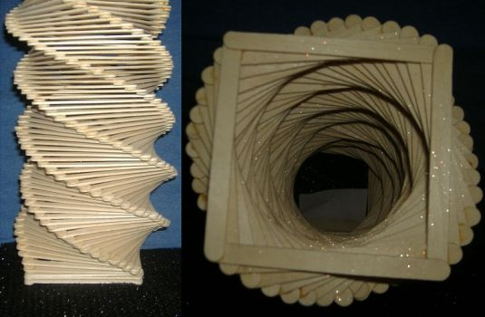 Popsicle Stick Sculpture by art-by-amanda