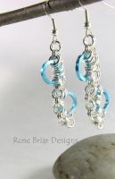 Silver and Blue Stepping Stone Earrings by My-Timeout