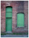 green door in Steamtown by CapnSkusting