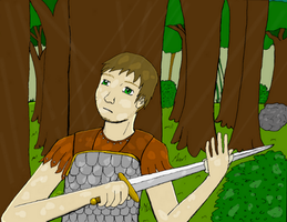 a dude with a sword by meleeman