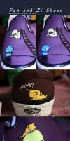 Pon and Zi Painted Shoes by CrazyLittleOwl