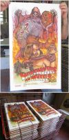 Werewolves on Wheels Poster print by WacomZombie