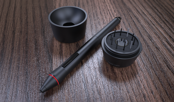 Wacom Pen and Holder by ZDESIGN23
