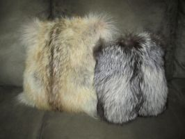 Fur Pillows by sugarpoultry