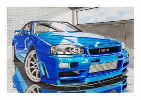 Nissan Skyline Gt R 34 by Stephen59300