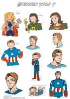 Avengers Dump 9 by LauraDoodles