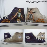 Lara Croft Converse by that-damn-ash-kid