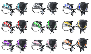Skull Bandana Colour Package by MidnightRose1918
