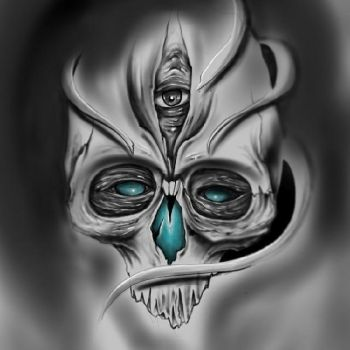 skull drawing by Unibody