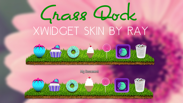 Grass Dock XWidget Skin by Ray by Raiiy