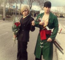 Sanji and Zoro cosplays by Moskita