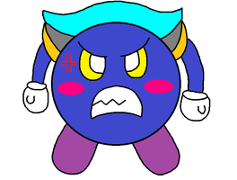 An angry maskless Meta Knight by PenelopeHamuChan