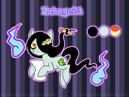 Zahngeist, or me as a small colorful equine by The-Clockwork-Crow