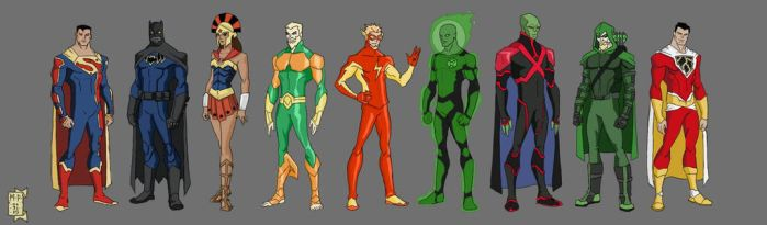 Justice League Redesign Part 2 by xXdemi-godXx
