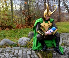 Loki Cosplay and Frost Giant Baby by Mon-Kishu