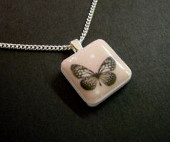 Butterfly Pendant by luminarydreams