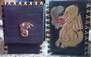 Tooled Leather Smoking Dragon Deck Box by MurdocsLuver